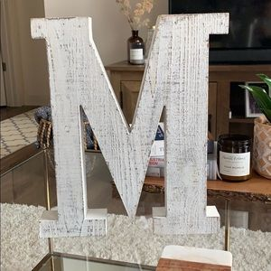Letter M wall decor